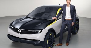 Michael Lohscheller with 2018 Opel GT X Experimental