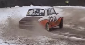 skoda-100-drift-snih-video