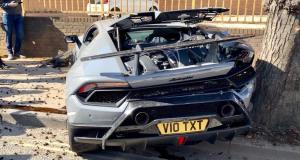 Lamborghini Huracán Performante nehoda
