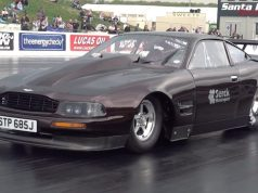 Mark Todd Aston Martin drag race