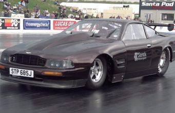 Mark Todd Aston Martin drag race