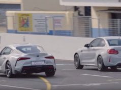sprint-drag-závod-toyota-supra-bmw-m2-competition-video