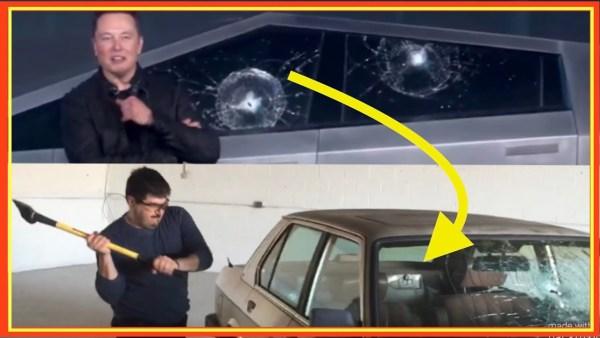 Rozbít okno u auta není vůbec snadné. Jak to tedy u Tesly dokázali?