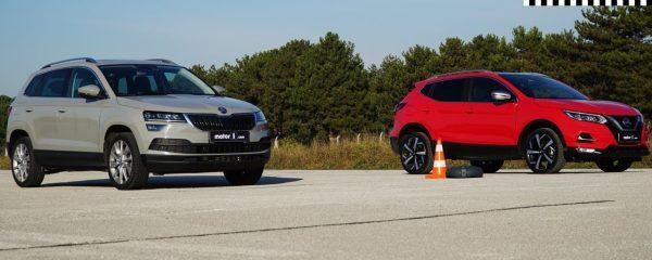 Sprint dvou obyčejných malých SUV. Vyhraje Škoda Karoq nebo Nissan Qashqai?