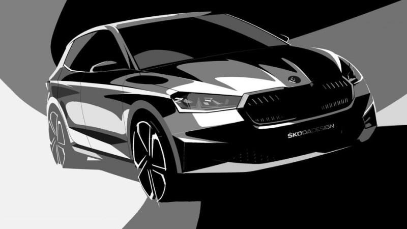 Škoda pokračuje v odhalování 4. generace modelu Fabia. Skica ukazuje výrazný posun v designu