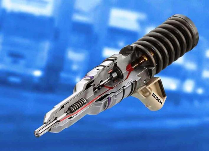 Форсунка с электронным клапаном