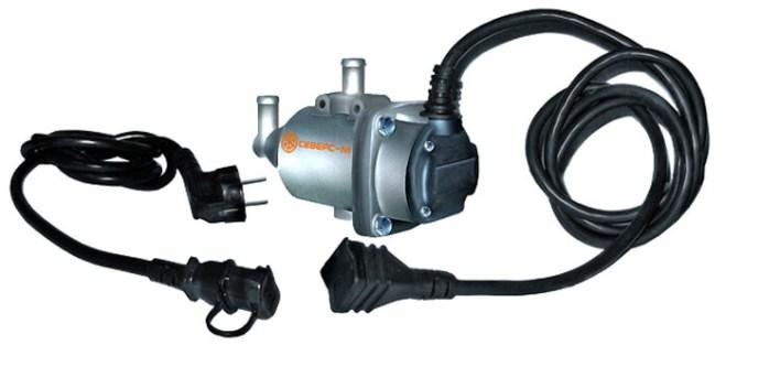 Предпусковой подогреватель двигателя, питающийся от 220В