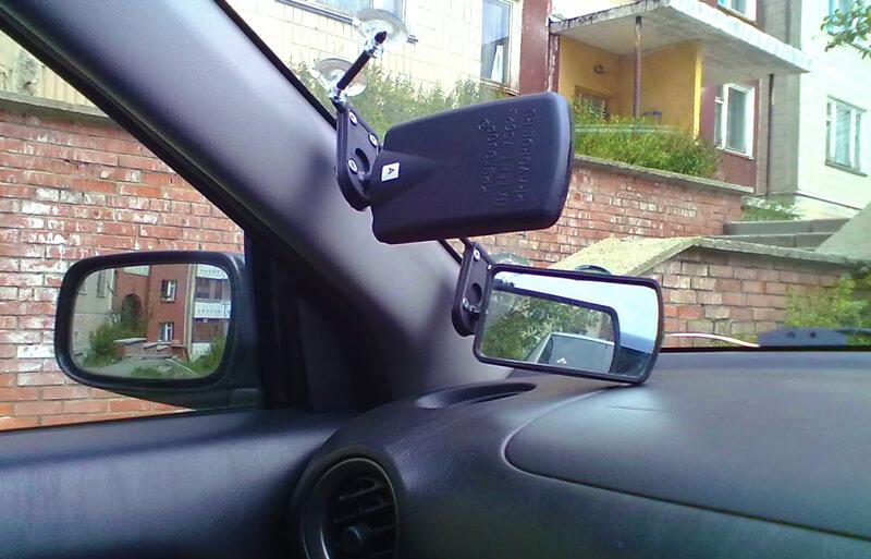 Система зеркал на праворульных автомобилях