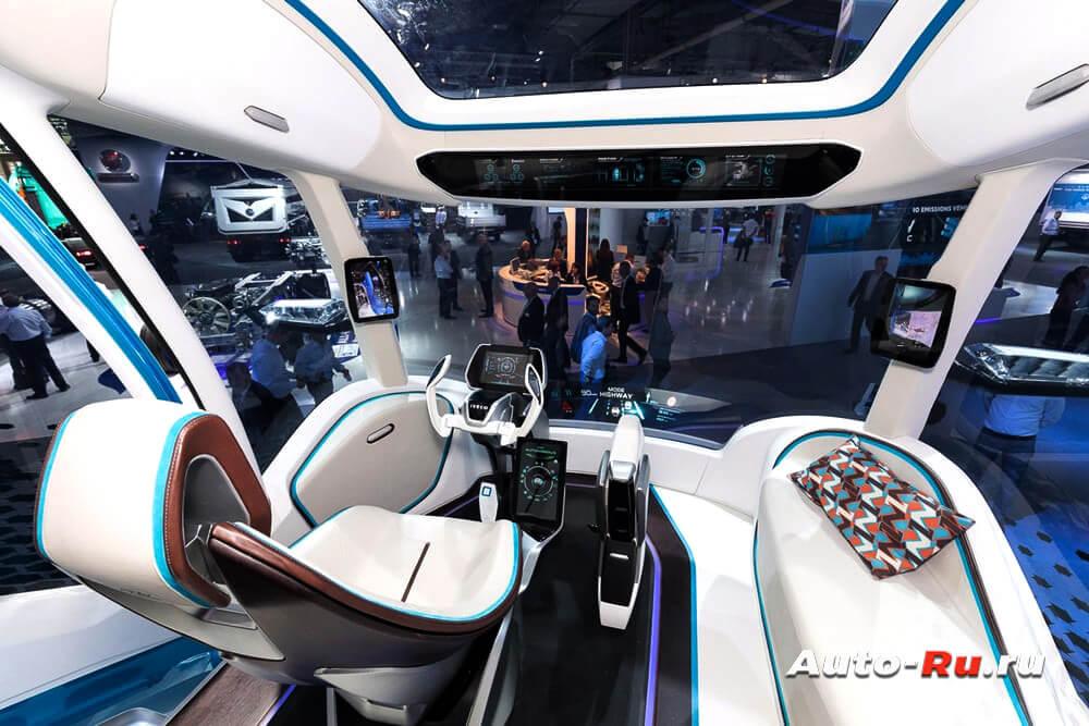 Кабина автомобиля будущего Iveco Z Truck