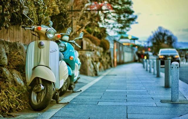 Een hele mooie dag om te cruisen op je scooter