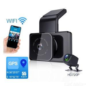 K10 WIFI GPS Auto DVR Dash Cam Full HD 1080P Dual Lens Nachtzicht Rijden Videorecorder Dfdf Camera