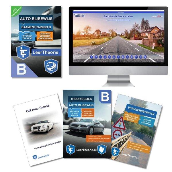 AutoTheorieboek met Samenvatting - Verkeersbordenboekje en Auto Theorie Online Examens - CBR AutoTheorie Boek Leren en Oefenen