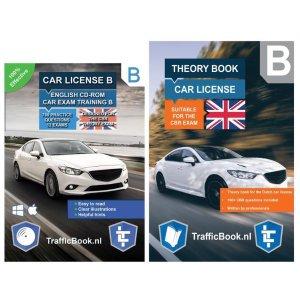 Auto Theorieboek Engels 2021 met Engelse Auto Theorie CD - Car Theory Book + Exam CD