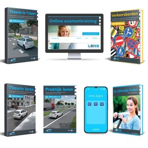 Rijbewijs B Theorieboek 2021 - Auto Theorie Pakket voor Theorie Leren Nederland met o.a. 50 online examens, Samenvatting en Praktijkboek