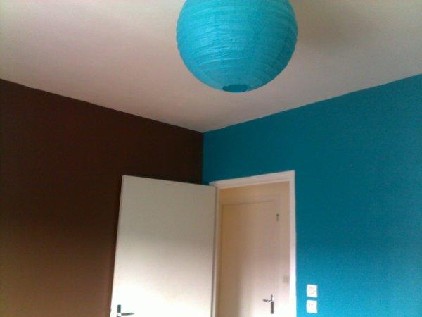 Finest Chambre Marron Bleu Turquoise With Chambre Bleu