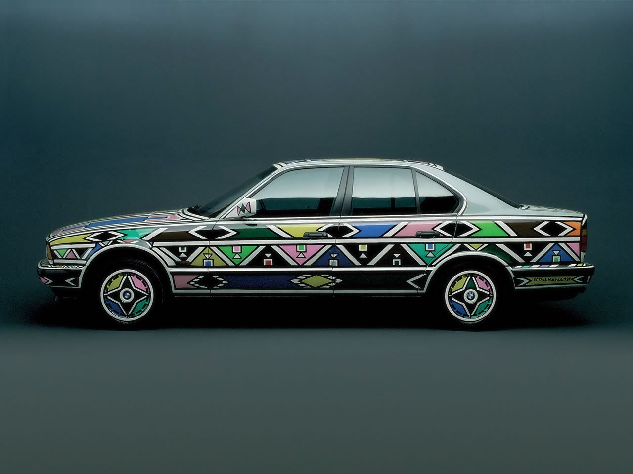 Latest Bmw Art Car 12 Esther Mahlangu South Africa 1991 Bmw Free Download