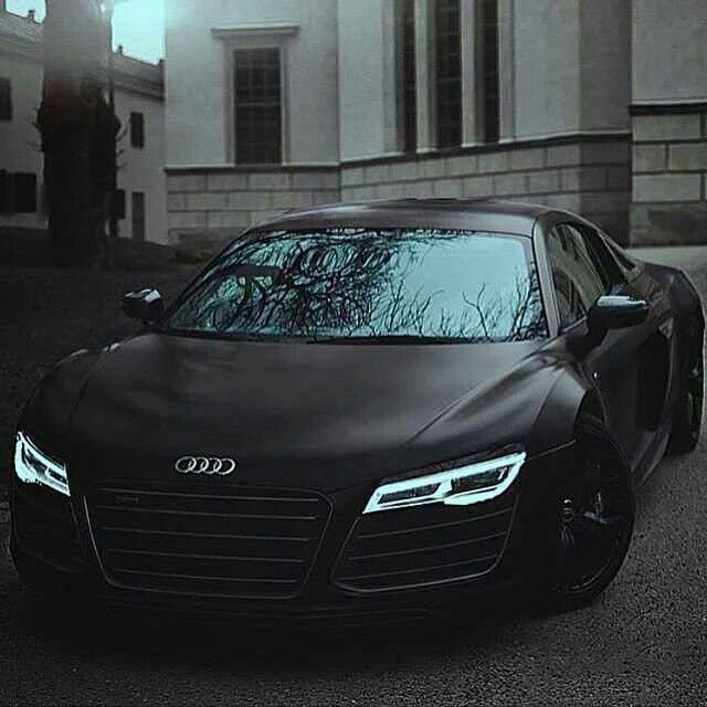 Latest Audi R8 Matte Black With Indiglo Headlights Audi R8 Free Download