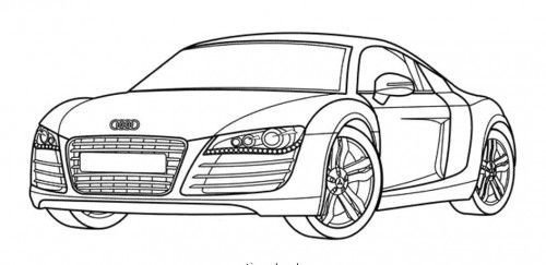 Latest Racing Car Audi Has A Nice Body Shape Coloring Page Art Free Download