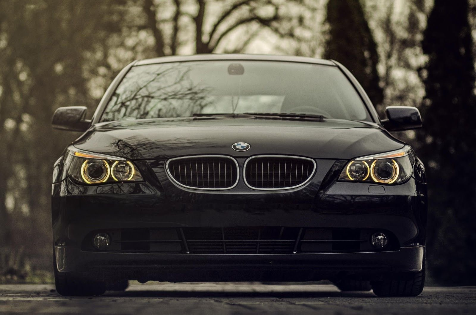 Latest Bmw 520D Black Front View Front Bumper Full Hd 1080P Free Download