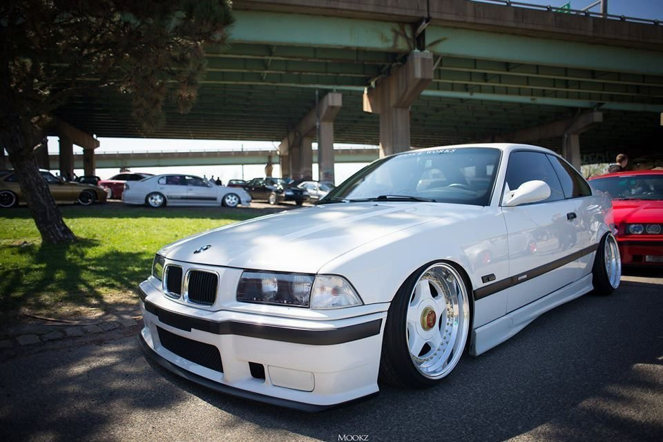 Latest Slammed Bmw E36 Coupé On Colour Coded Bbs Rf Wheels Bmw Free Download