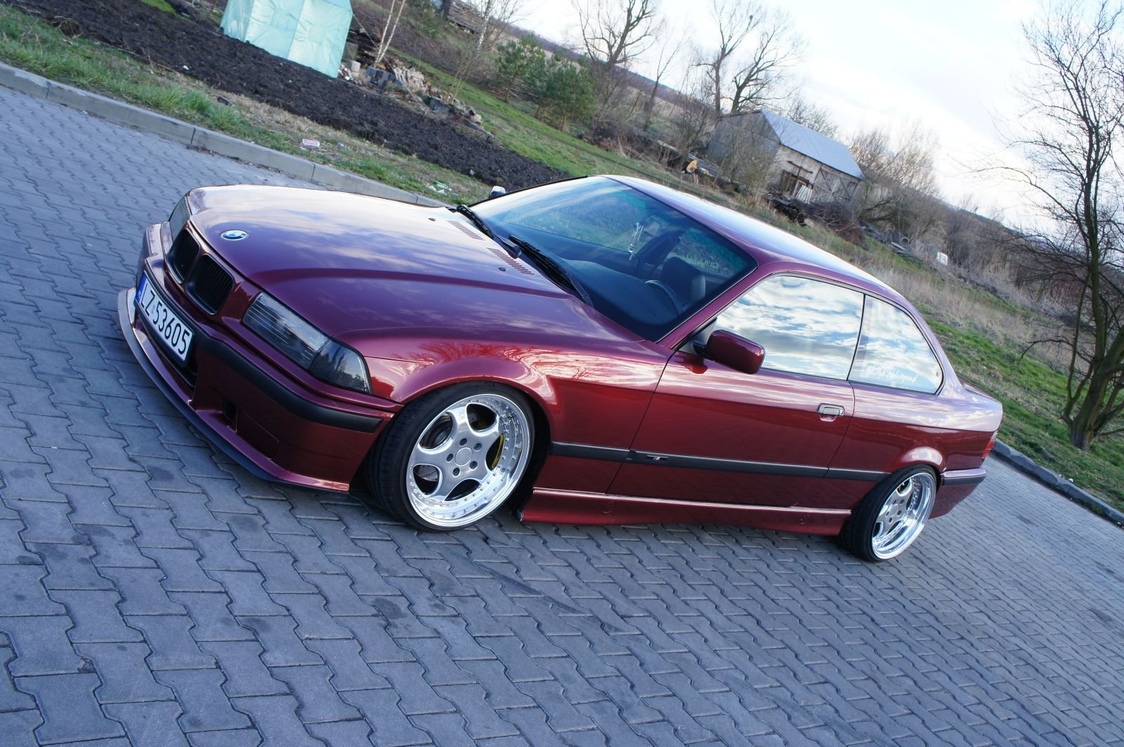 Latest Calypsorot Bmw E36 Coupé On Cult Classic Rh Zw1 Wheels Free Download