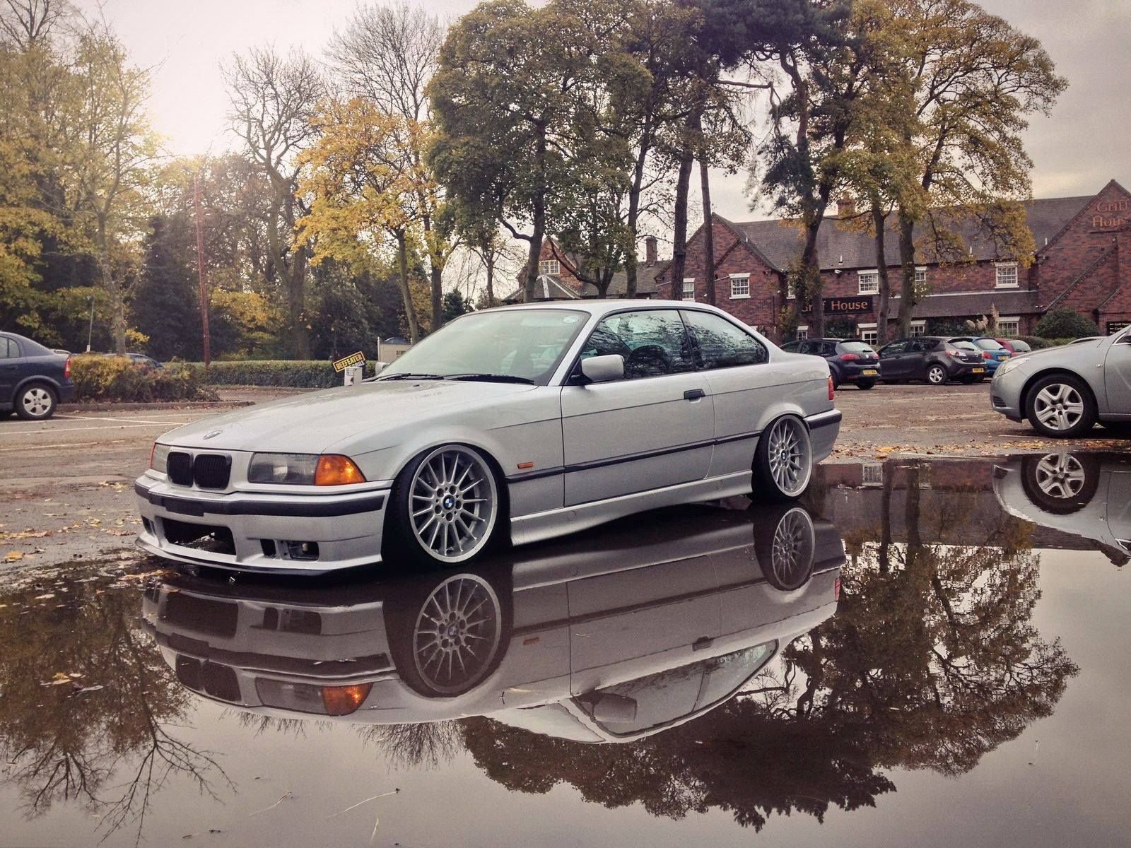 Latest Silver Bmw E36 Coupe Slammed On Oem Bmw Styling 32 Wheels Free Download