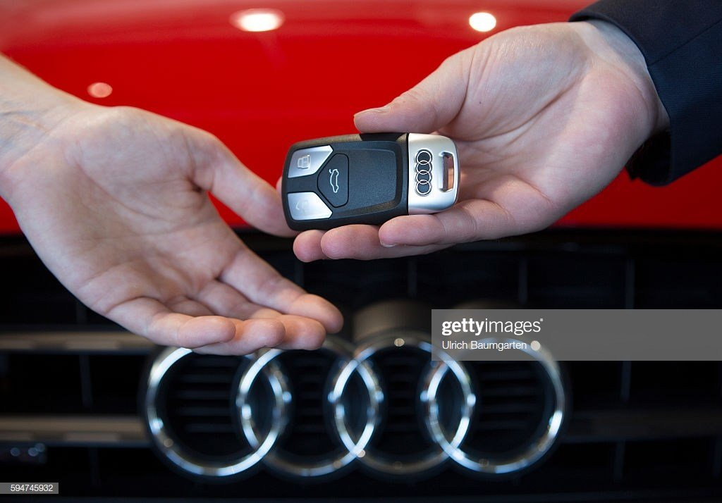 Latest Key Handover After A Car Purchase In A Audi Car Dealer In Free Download