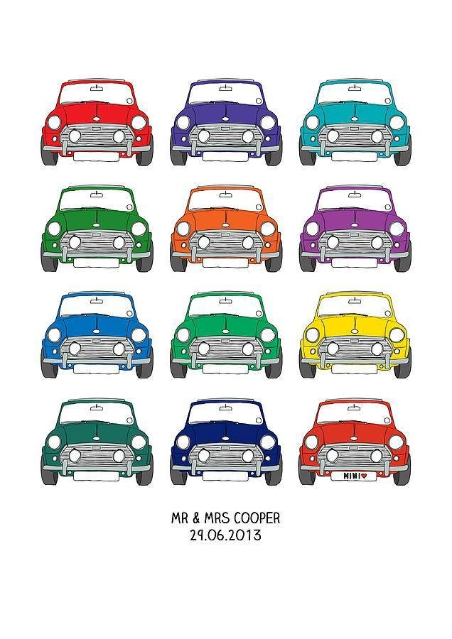Latest Personalised Mini Cooper Car Print By Wink Design Free Download
