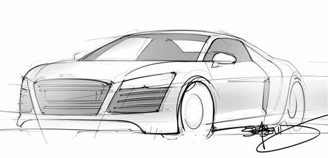 Latest Photos Audi Car Pencil Drawing Drawings Art Gallery Free Download