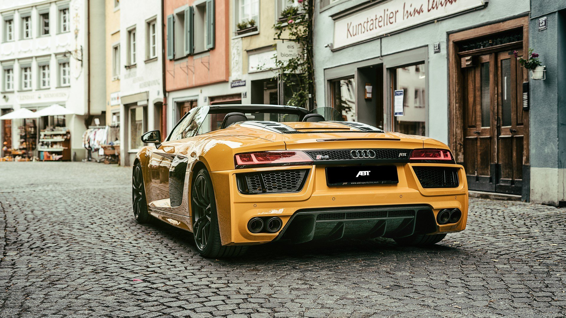 Latest 2017 Abt Audi R8 Spyder 4K 3 Wallpaper Hd Car Wallpapers Free Download