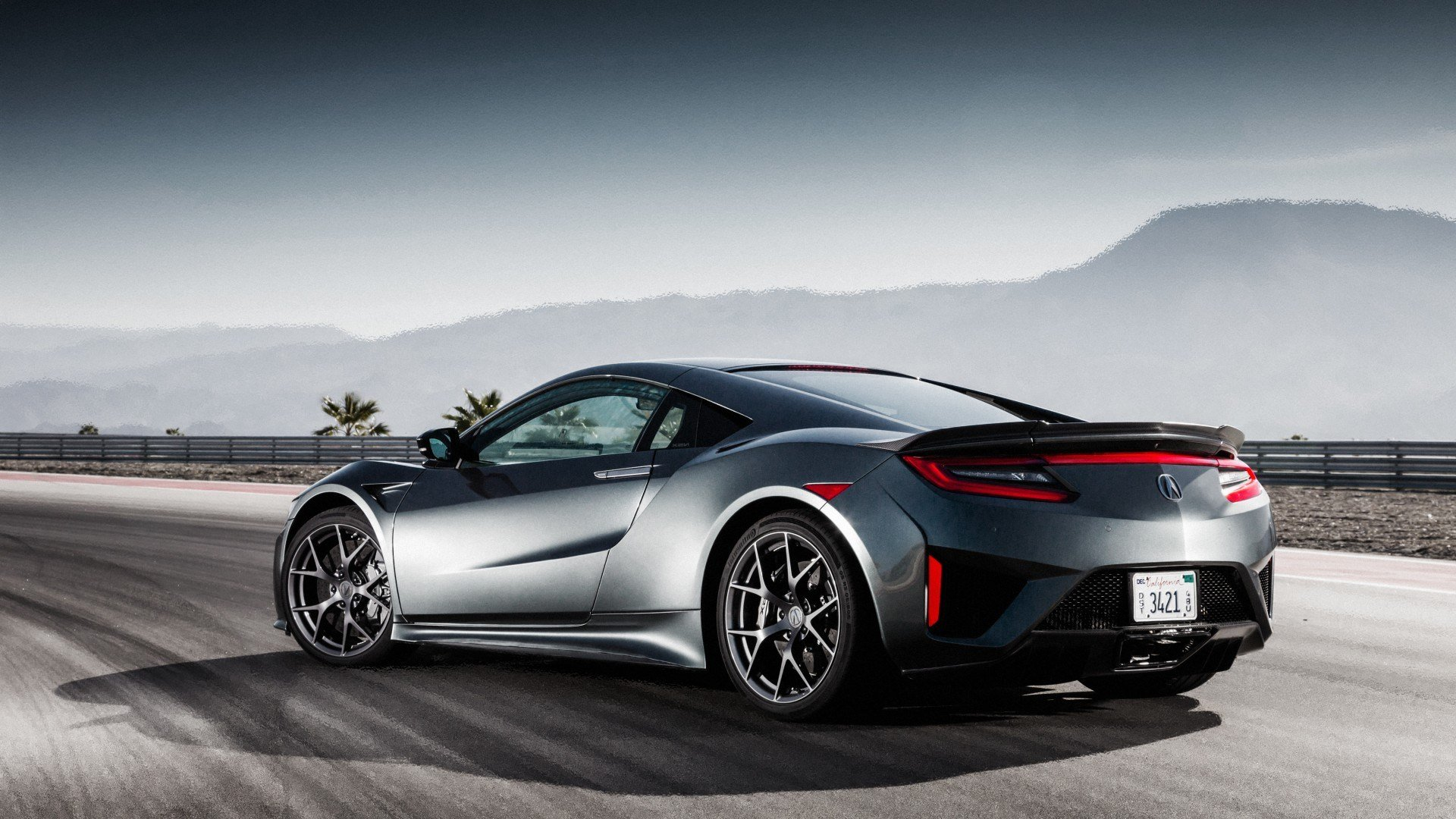 Latest Wallpaper Honda Nsx Acura Nsx Rear View 2017 Cars Free Download