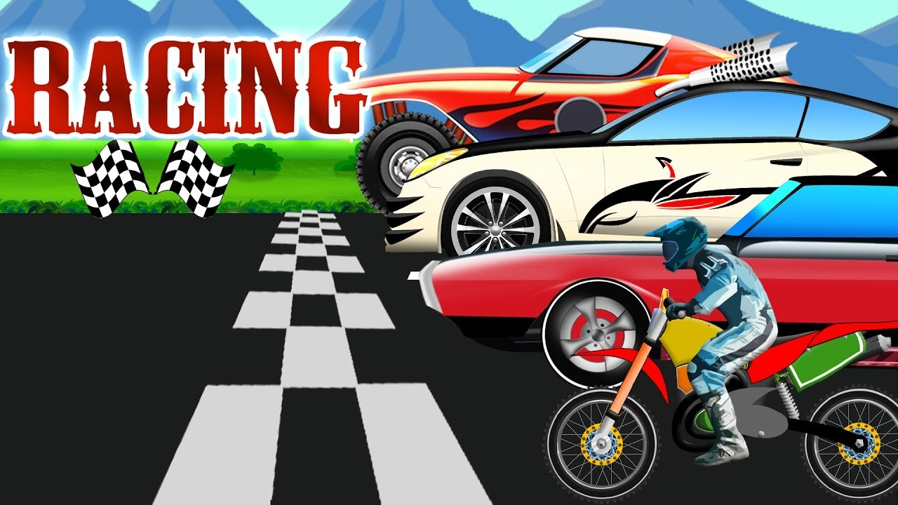 Latest Car Race Cartoon Car Chase For Children Youtube Free Download Original 1024 x 768