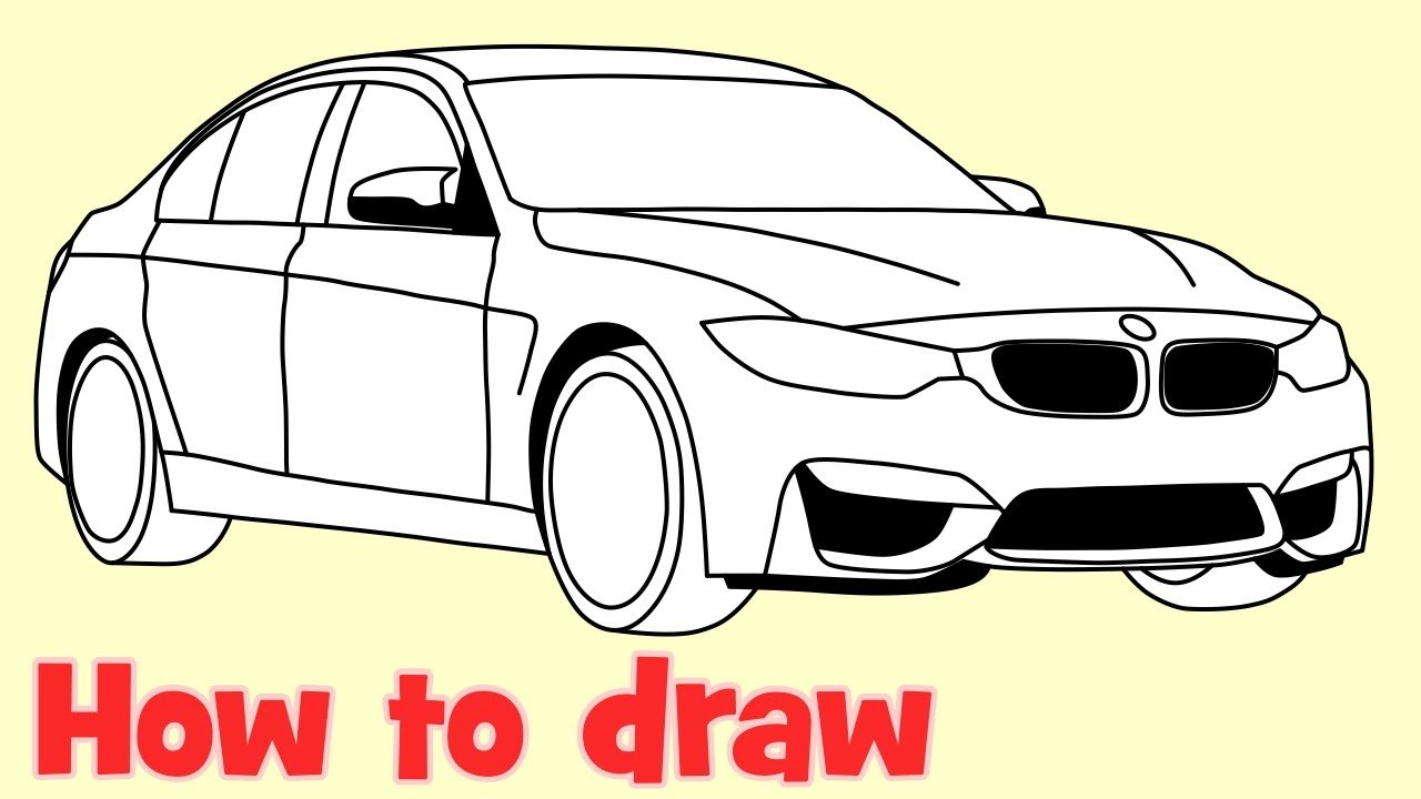 Latest How To Draw A Car Bmw M3 Sedan Step By Step Drawing Youtube Free Download