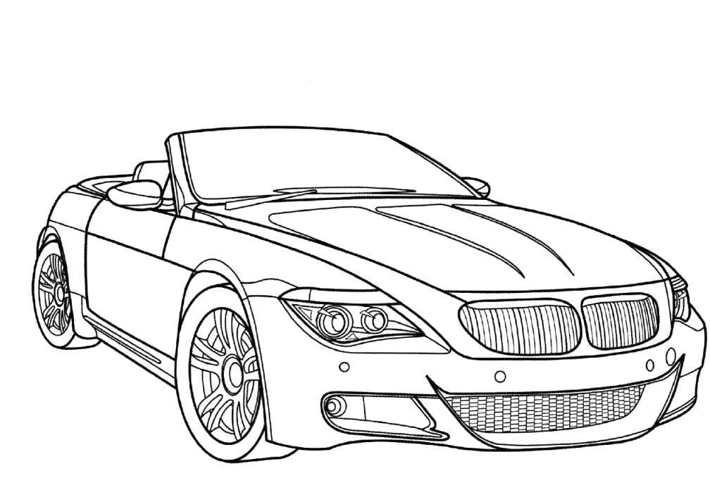 Latest Racing Car Bmw M6 Coloring Page Luhur Hati Free Download