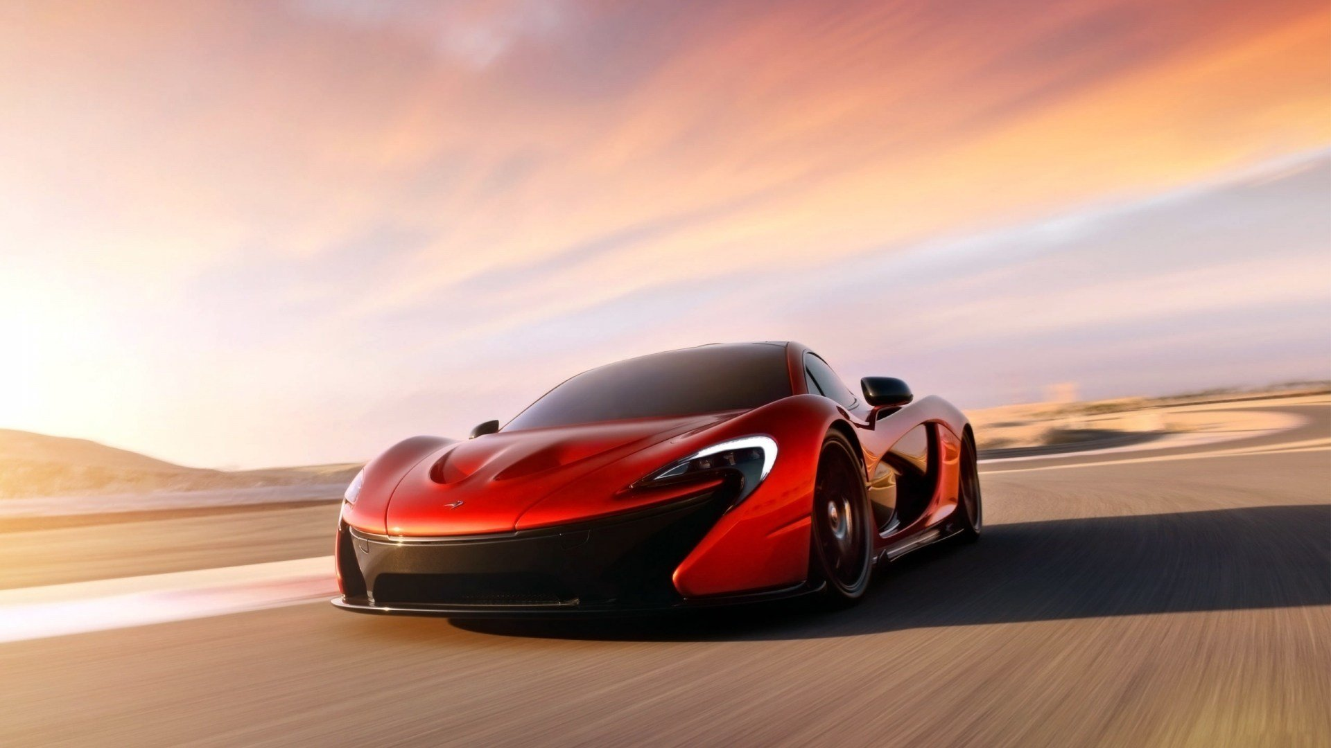 Latest Mclaren P1 Concept Red Desktop Wallpaper Free Download
