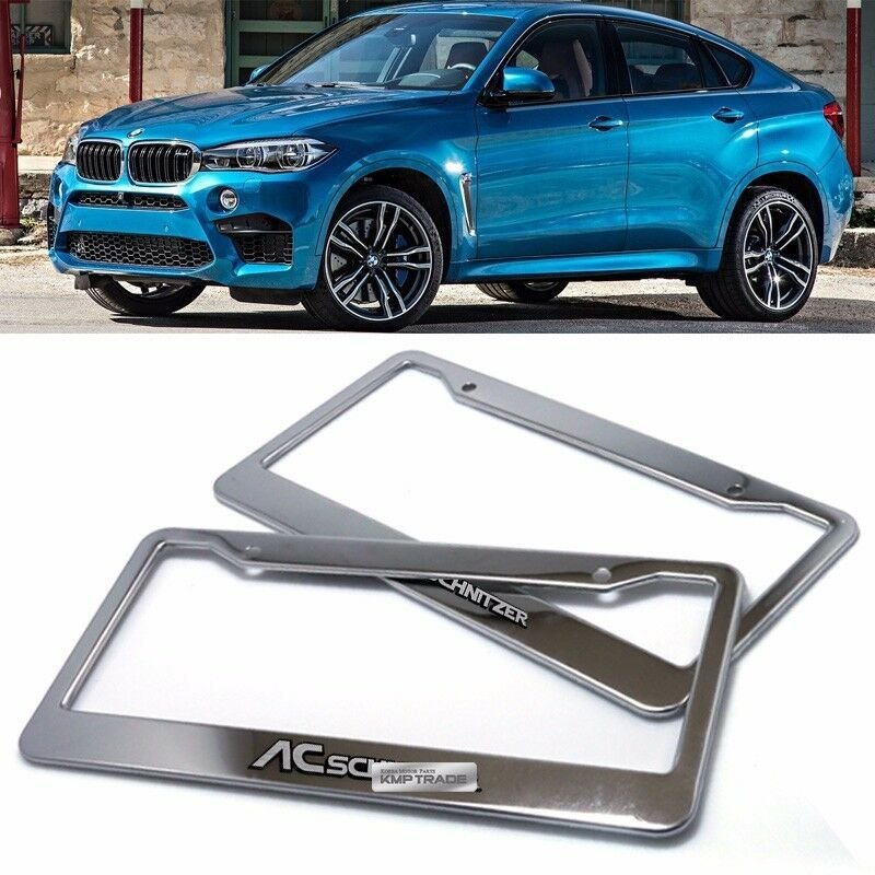 Latest License Plate Stainless Chrome Frame Ac Schnitzer Hairline Free Download