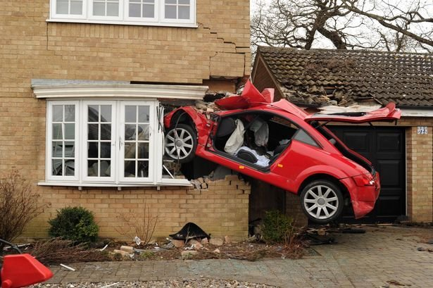 Latest Suffolk Audi Crash Car Embedded In House After Accident Free Download