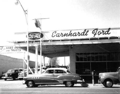 Latest Old Earnhardt Ford Dealership A Very Old Black White Free Download