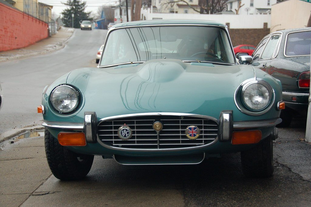 Latest Old Jaguar E Type Sports Car Front View Close Funny Free Download