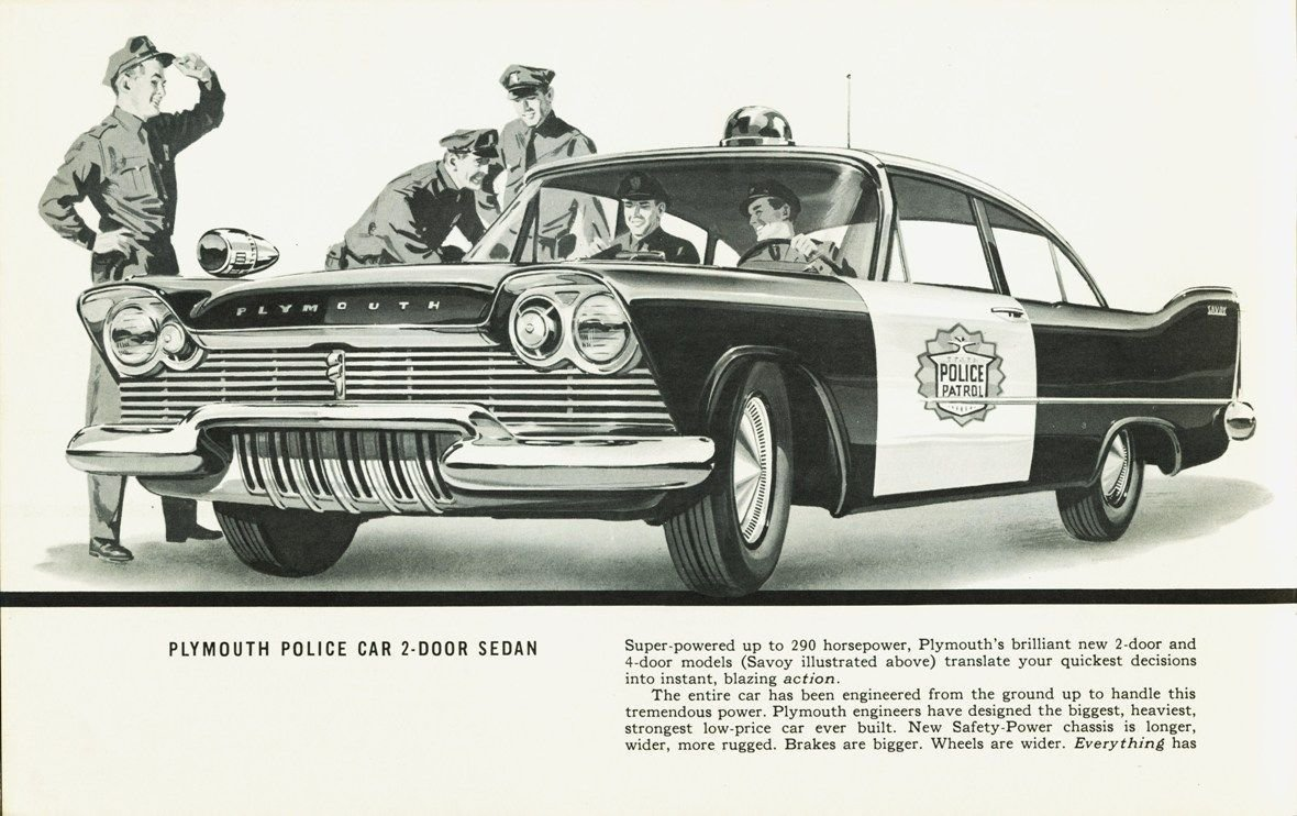 Latest 1957 Plymouth 4 Door Police Car Painting Drawing Free Download