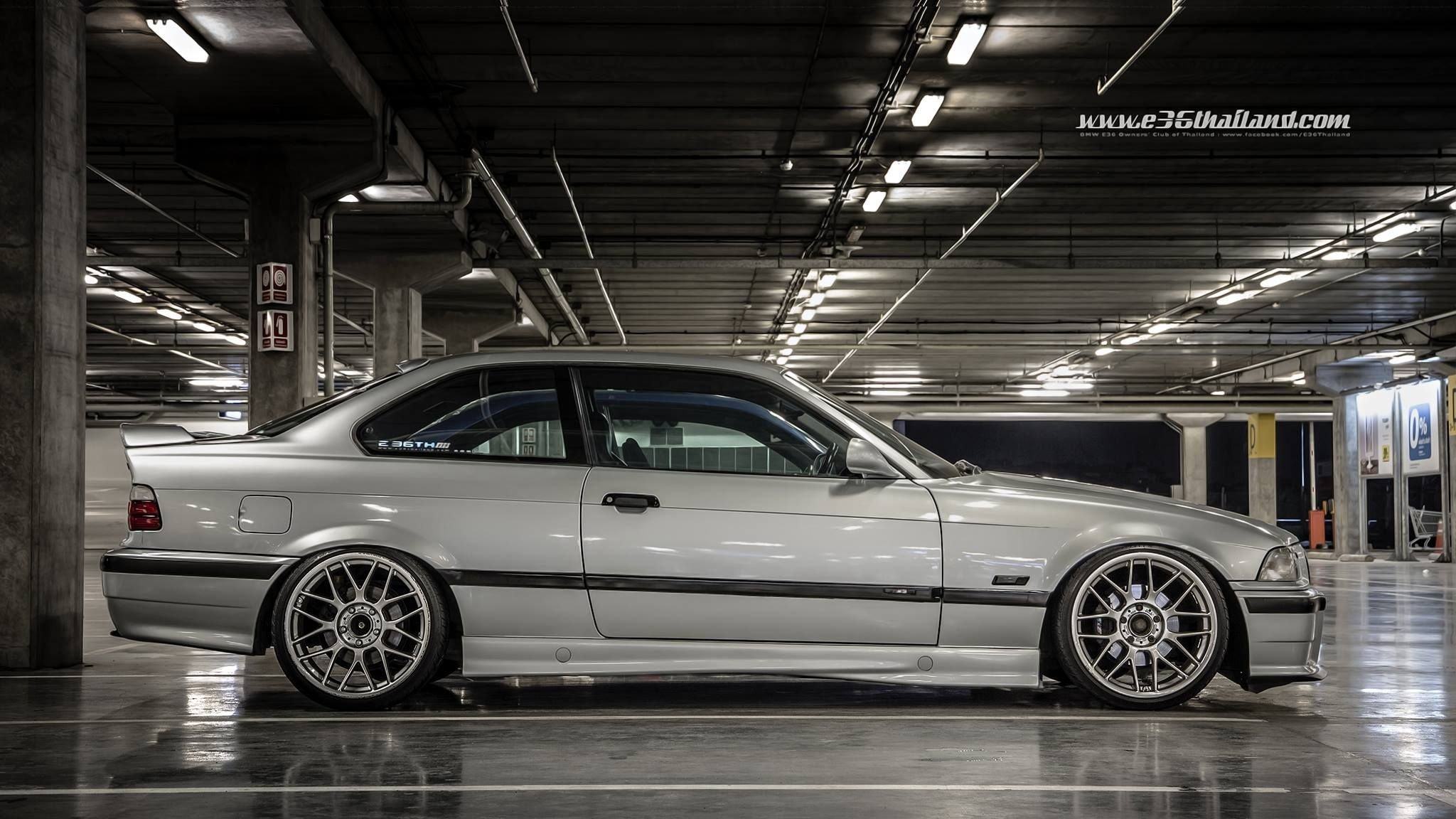 Latest Silver Bmw E36 Coupe On 18 Monoblock Bbs Rc Wheels Bmw Free Download