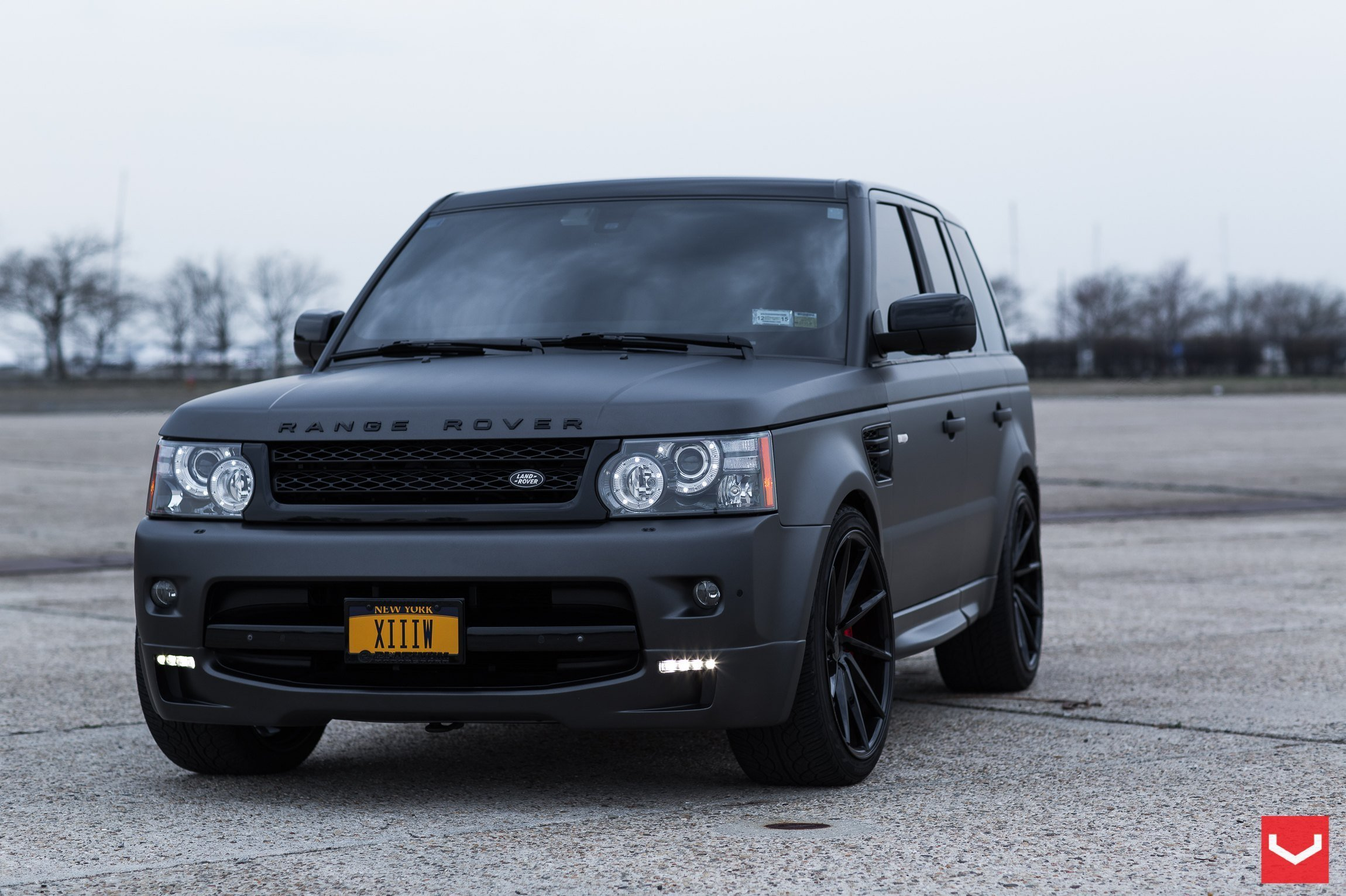 Latest Black On Black Matte Land Rover Range Rover Sport With Free Download