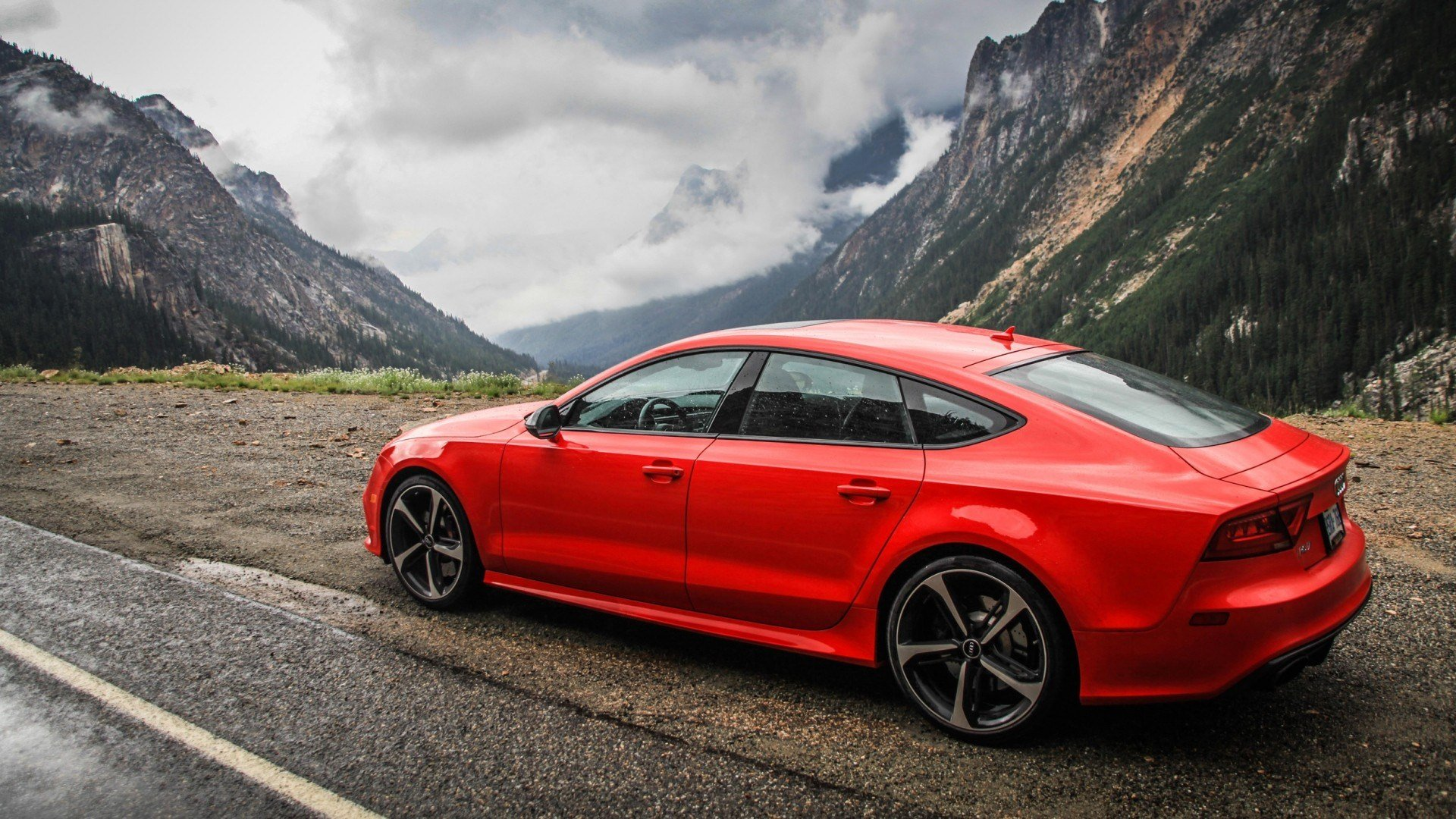 Latest Audi Rs7 Audi Audizone Red Cars Mountains Vehicle Free Download