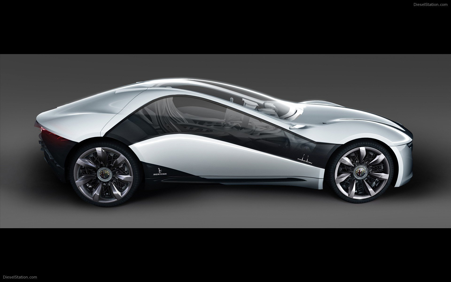 Latest Bertone Pandion Dream Alfa Romeo Widescreen Exotic Car Free Download