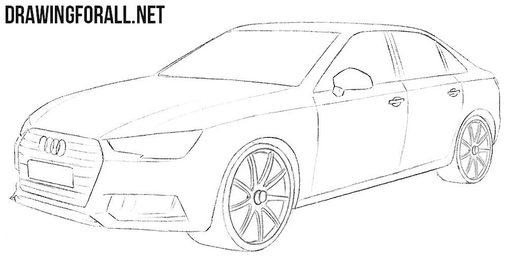 Latest How To Draw An Audi A4 Drawingforall Net Free Download