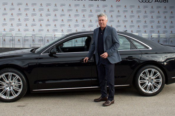 Latest Carlo Ancelotti In Real Madrid Players Receive New Audi Free Download