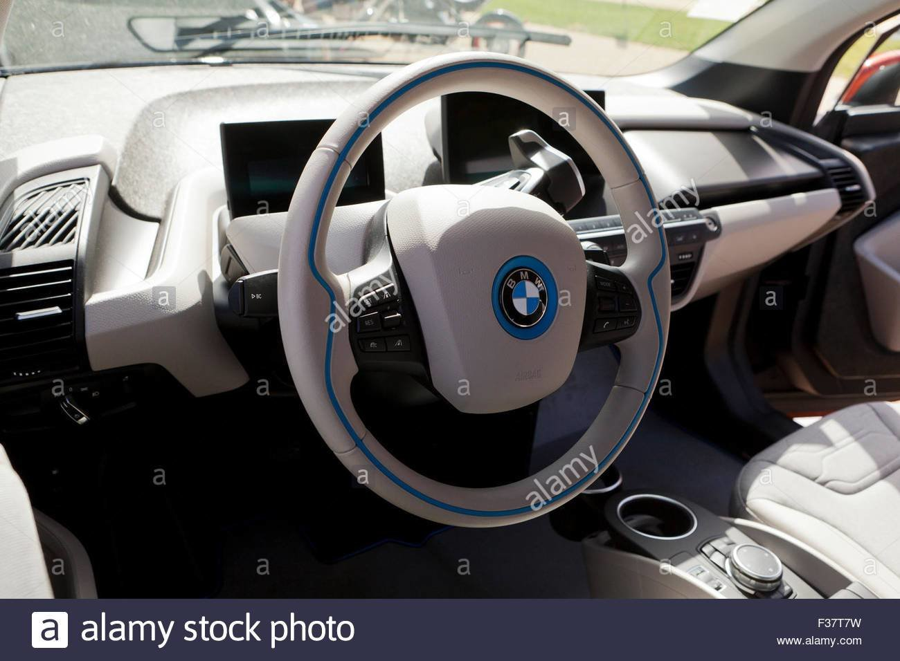 Latest Bmw I3 Electric Car Interior Usa Stock Photo Royalty Free Download