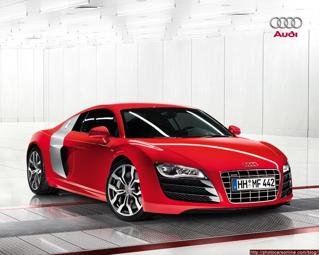 Latest Red Audi Sports Car Free Download
