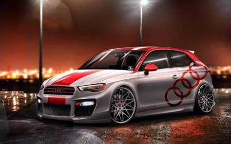 Latest Artwork Audi A3 Cars Tuning Free Download