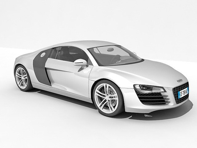 Latest Audi R8 Car 3D Model 3Ds Max Files Free Download